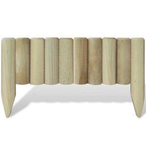 Bordure de jardin en bois - Achat / Vente pas cher