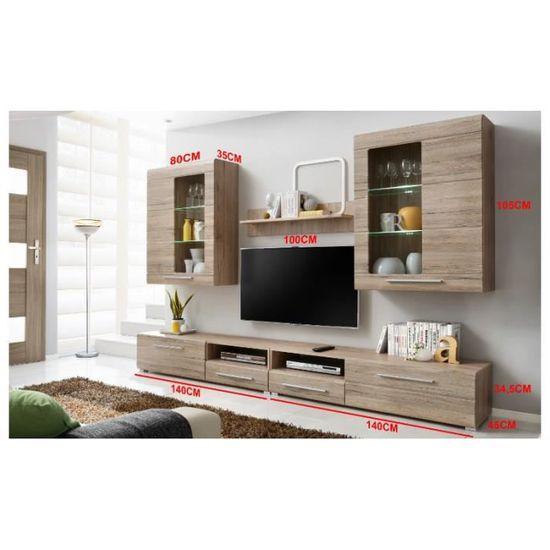Ensemble Complet Salon Timber 280 Bois Mur Tv Achat Vente