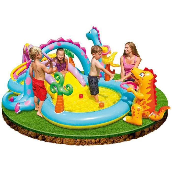 INTEX Piscine gonflable pour enfant - Aire de jeux aquatique - 3,33x2,29x1,12m