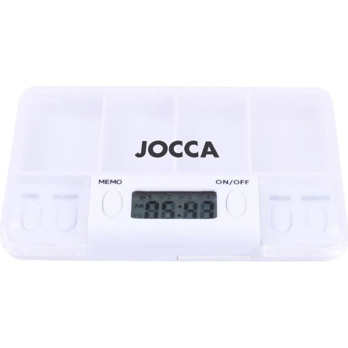 JOCCA - Pilulier électronique programmable - 4 compartiments