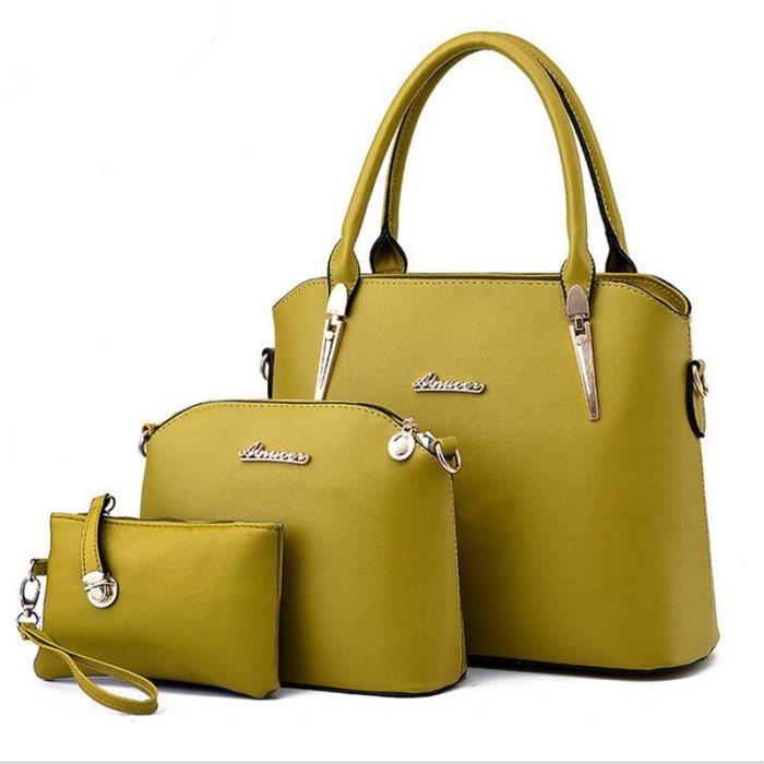 f415740e03 sac à main cuir marque de luxe Sac Femme De Marque De Luxe En Cuir agréable femmes  sacs à main en cuir sacs à main vert