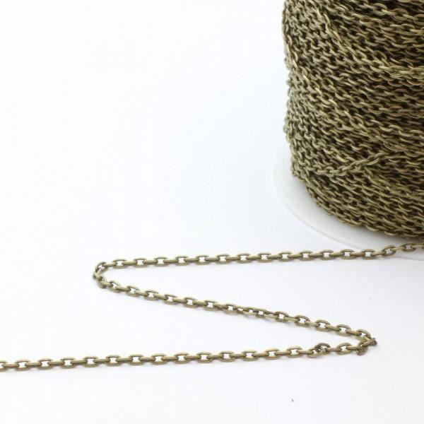 f401c1e2d0c Chaine fine maillon bronze x1M - 3x2mm - apprêts création de bijoux ...
