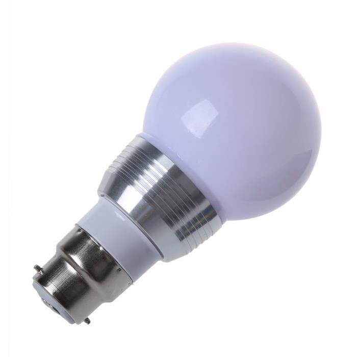 Led Ampoule 3w LampeTelecommande 4x Ir Rvb B22 16 Couleurs hsQdtCxr