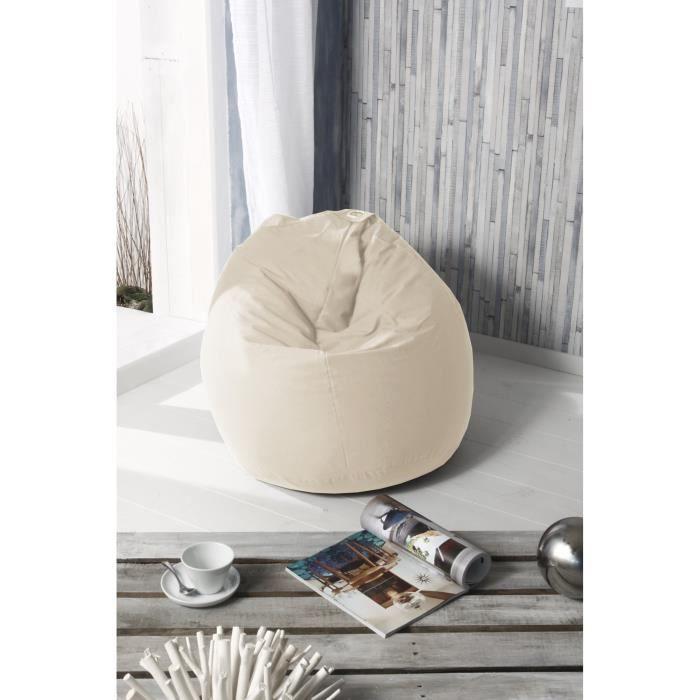 fun poire pouf 100 coton 79x100 cm beige achat vente pouf poire 100 coton cdiscount. Black Bedroom Furniture Sets. Home Design Ideas