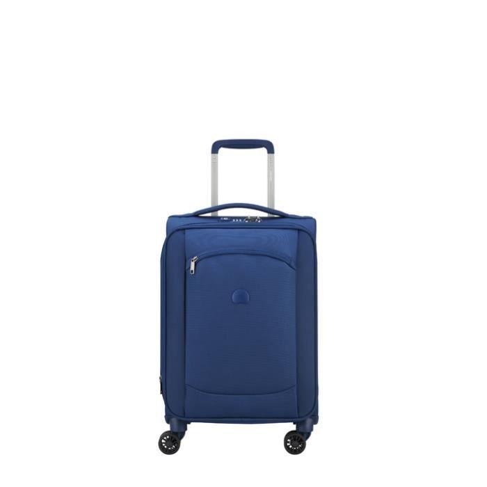 Valise cabine souple Delsey Montmartre Air Slim 55 cm Bleu outremer Q30cCQ9