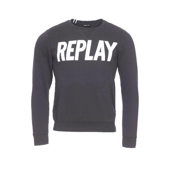 0bee3889771b3 Replay - hauts Noir Noir - Achat   Vente sweatshirt - Soldes  dès le ...