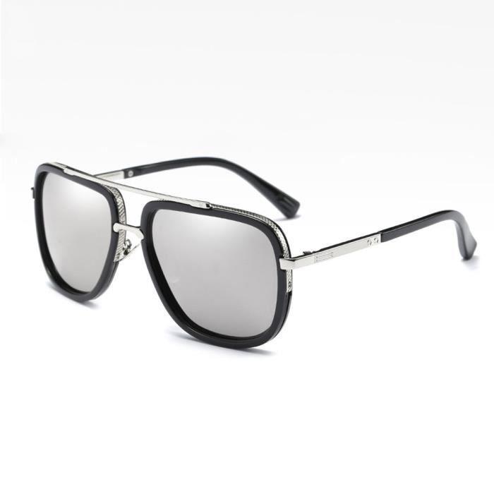 99e6110424bb8 Mode Hommes Aviateur lunettes de soleil polarisées conduite SLP002 ...