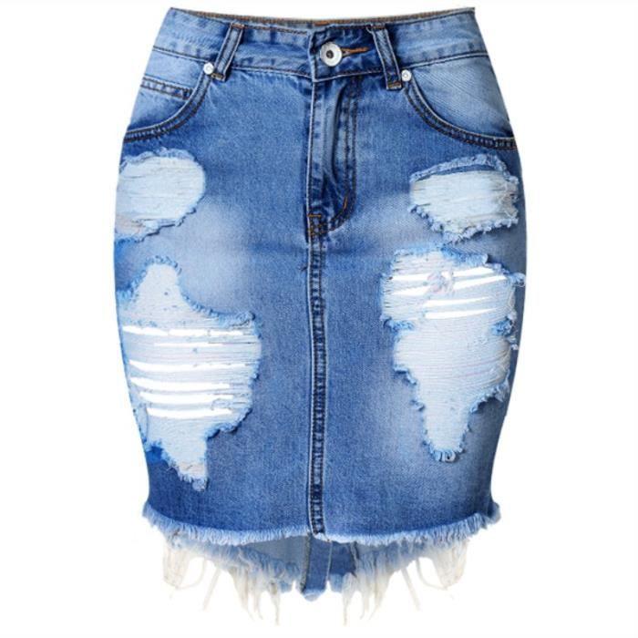 e298ff33703e36 Zencart Mini Denim Jupe Femmes D'été Casual Split Taille Haute Court Jeans  Jupe Irrégulière Sexy Crayon Jupes Femmes Jupe Faldas