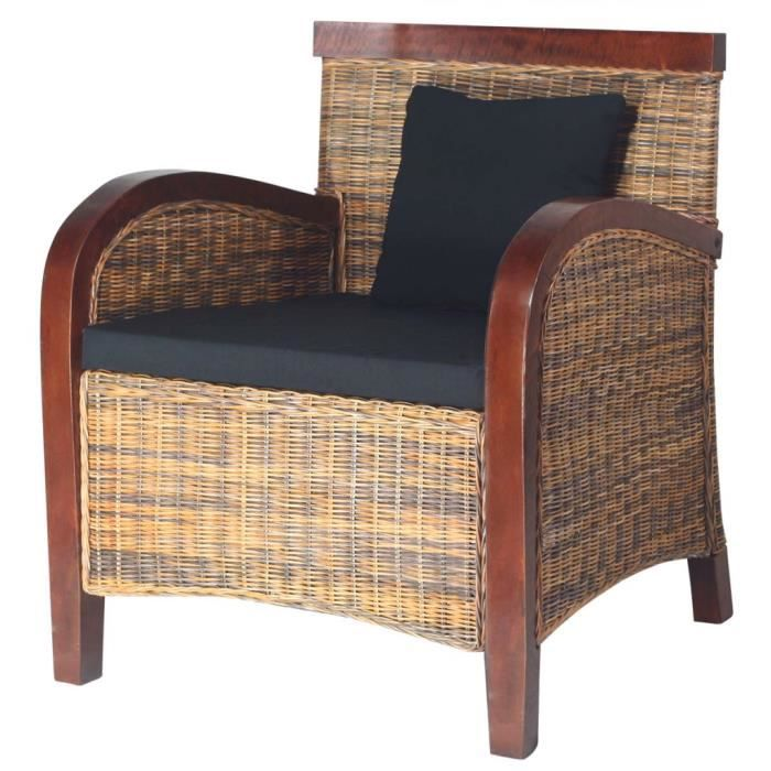 fauteuil en rotin tiss la main achat vente fauteuil cdiscount. Black Bedroom Furniture Sets. Home Design Ideas