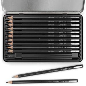 Crayon Pour Dessin Professionnel Set Crayons Papier Pour Croquis
