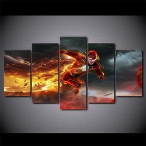 TABLEAU - TOILE Imprimé Flash Movie Barry Allen peinture toile imp