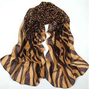 Foulard imprimé léopard et zèbre marron   or beige - Achat   Vente ... 1a9e991be25