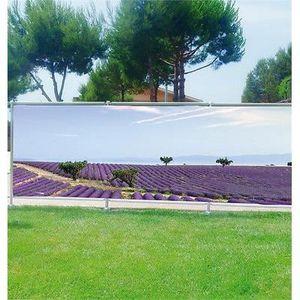 Brise vue déco imprimé pour jardin, balcon ou terrasse Yeux feuilles ...