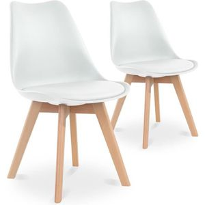 chaise lot de chaises style scandinave catherina blanc with chaise norvegienne - Chaise Norvegienne