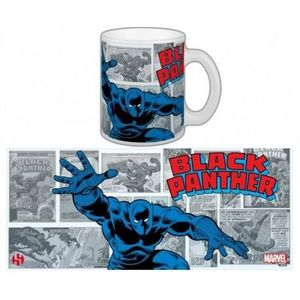 BOL - MUG - MAZAGRAN Mug Marvel Black Panther Rétro Série 2 Blanc