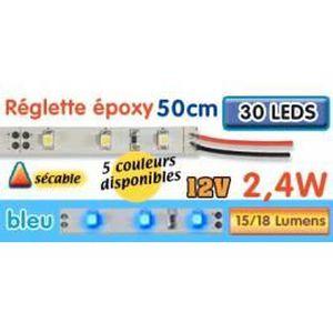 AMPOULE - LED Réglette LED époxy 50 cm 2W4 12V bleu