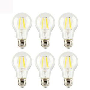AMPOULE - LED Lot de 6 Ampoules Edison Rétro LED Filament E27 6W