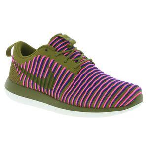 new product c56ba ab4dd BASKET NIKE W Roshe Two Flyknit Femmes Sneaker Vert 84492