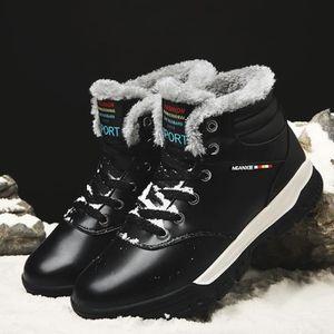 Botte Homme Haute Qualité Martin d'hiver de neige garder au chaud d'extérieurnoir taille48 E8vUXRlRhB