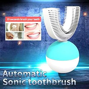 BROSSE A DENTS ÉLEC Brosses à dents électriques de type d'U rechargeab