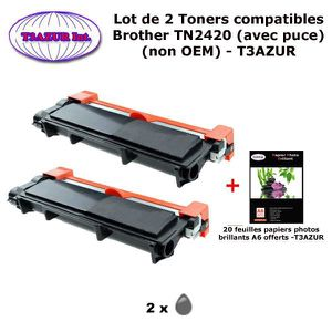 TONER 2 Toners compatibles Brother TN2420 pour Brother M