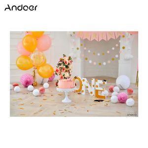 FOND DE STUDIO Andoer Premier Anniversaire Toile de Fond Gâteau P