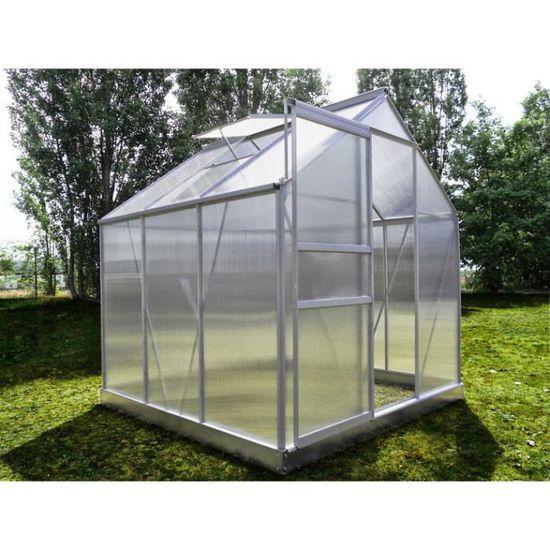 Serre de jardin 66 en polycarbonate alvéolaire … - Achat   Vente ... 39e11a93fdbb