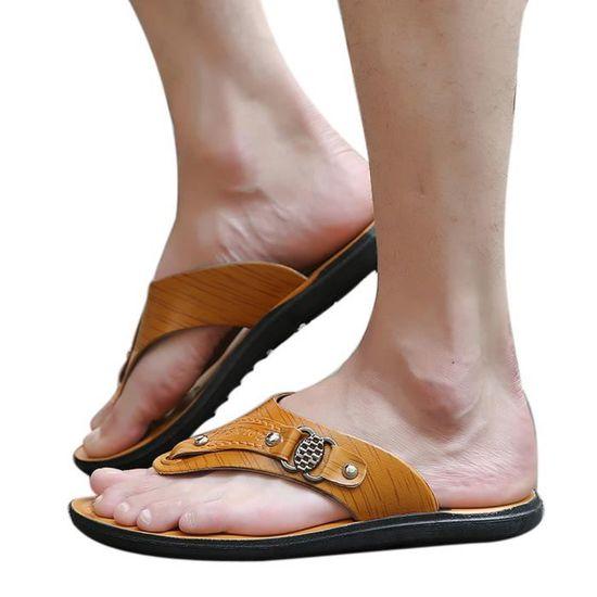 5db767e7aaf Plage Tongs Été Douce Hommes Pantoufles Chaussures De Qe2743 Confortables  Sandale f7I5wq ...