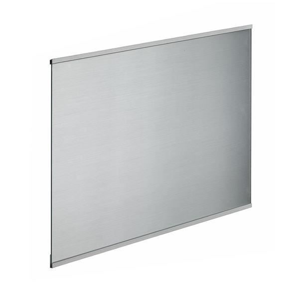 Crédence en verre de 5mm d'épaisseur style inox - 60x45cm
