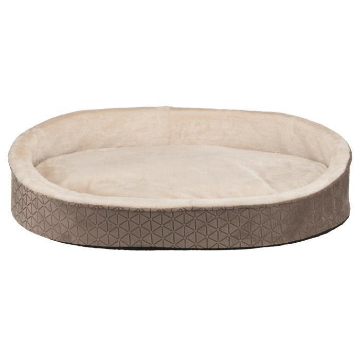 TRIXIE Lit Camiro - 85 x 65 cm - Beige taupe et beige foncé - Pour chien