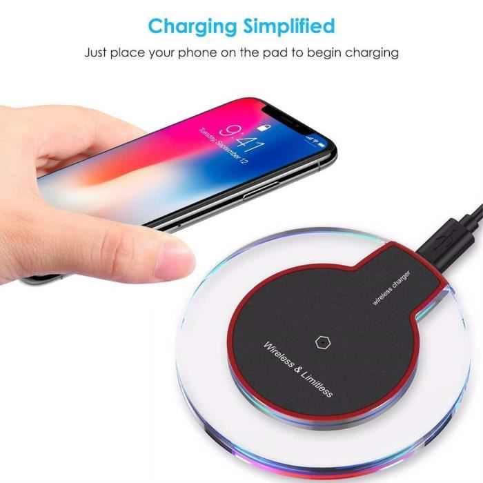 classic style various colors large discount Chargeur sans fil galaxy note 9