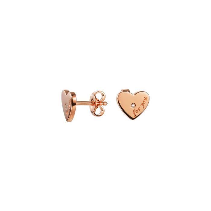Esprit - ESER92453C000 - Diamonds 4 You Rose - Boucles dOreilles Femme - Argent 925-1000 2 gr - Diamant 0.1 cts