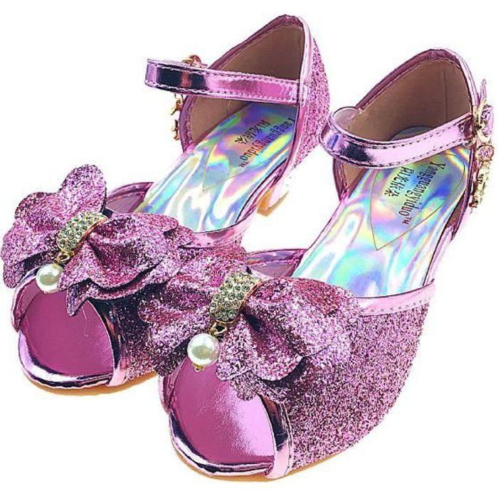 77af62714b034 Ballerines de Princesse Paillette Sandales à talons de Déguisement ...