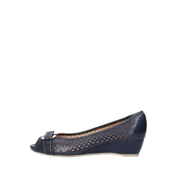 SANDALE - NU-PIEDS Sandale Femme CALPIERRE Cuir Bleu
