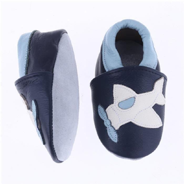 a28ee44401641 CHAUSSON - PANTOUFLE Chaussures Bébé en Cuir Souple - Chaussons ...