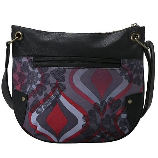 e4dd036f39 Sac besace Desigual Noir BROOKLYN NEW RED Toile 57X52F9 / 3000 - Achat /  Vente besace - sac reporter 8434101190353 - Cdiscount
