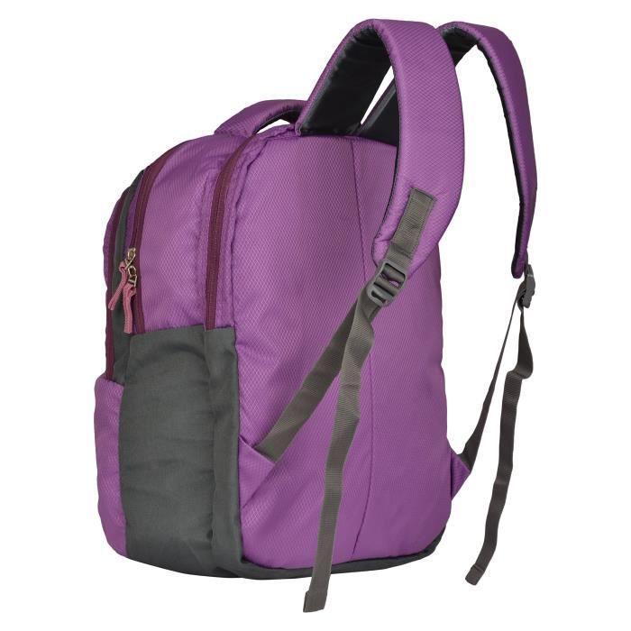 Polyester hommes 34 L ordinateur portable Violet 15,6 pouces Sac à dos (PC-0102) B164G