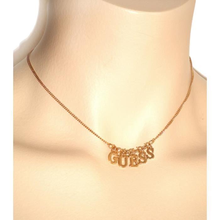 Collier Guess Femme Chaine Logo Doré (BJC0535)