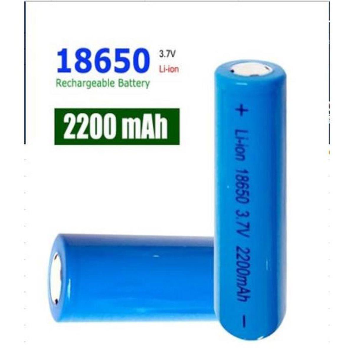 4pcs Original Piles Rechargeables 18650 Li Ion Batterie