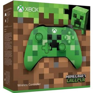 MANETTE JEUX VIDÉO Manette Xbox Edition limitée Minecraft Creeper