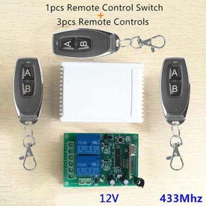 TÉLÉCOMMANDE DOMOTIQUE  2CH 433MHz Relais Télécommande Sans Fil Commutateu