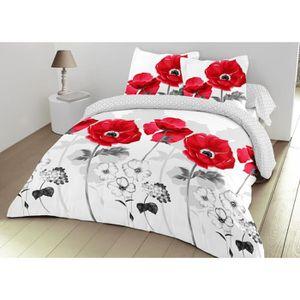 parure de lit 160 x 200 cm achat vente parure de lit 160 x 200 cm pas cher cdiscount. Black Bedroom Furniture Sets. Home Design Ideas