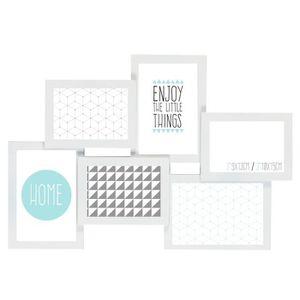 PÊLE-MÊLE PHOTO EMOTION Cadre photo multivues Détroit blanc 6 phot