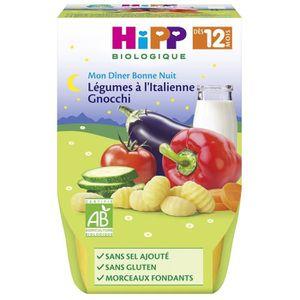 PURÉES DE LÉGUMES HIPP BIOLOGIQUE Mon dîner bonne nuit Légumes à l'I
