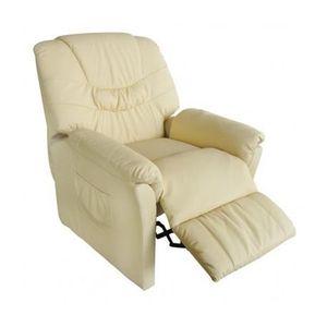 fauteuil de relaxation blanc achat vente pas cher cdiscount. Black Bedroom Furniture Sets. Home Design Ideas