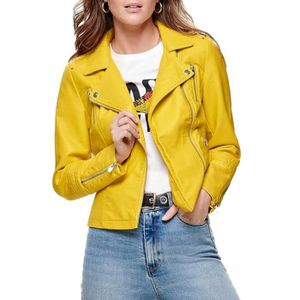 Veste jean femme jaune