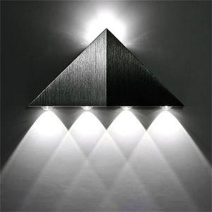 APPLIQUE EXTÉRIEURE Applique Trigonale 1W LED de Haute Puissance Lampe