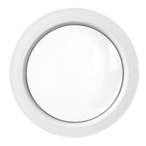 FENÊTRE - BAIE VITRÉE Fenêtre ronde fixe 60 cm Blanche PVC oeil de boeuf