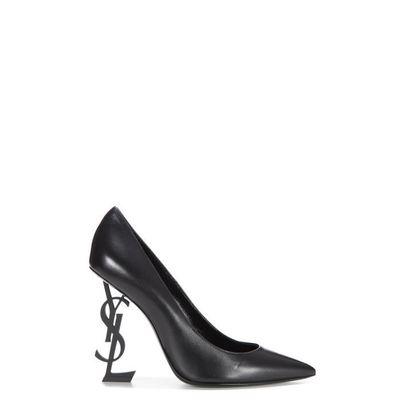 chaussures d'automne réflexions sur chercher SAINT LAURENT FEMME 4720110NOUU1000 NOIR CUIR ESCARPINS