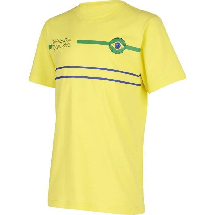 ATHLI-TECH Ensemble Coupe du monde de football Brésil - Enfant Garçon - Jaune